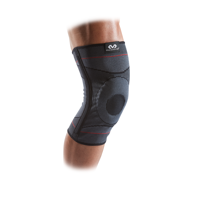 McDavid Knee Compression Knit Sleeve w/ Gel Buttress and Stays, Small/Medium