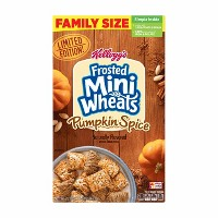 Frosted Mini Wheats Pumpkin Spice Family Size Breakfast Cereal - 22oz - Kellogg's