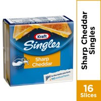 Kraft Singles Cheese Slices, Sharp Cheddar Cheese, 16 ct - 12.0 oz Wrapper