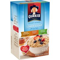 Quaker Instant Oatmeal Lower Sugar Variety Pack