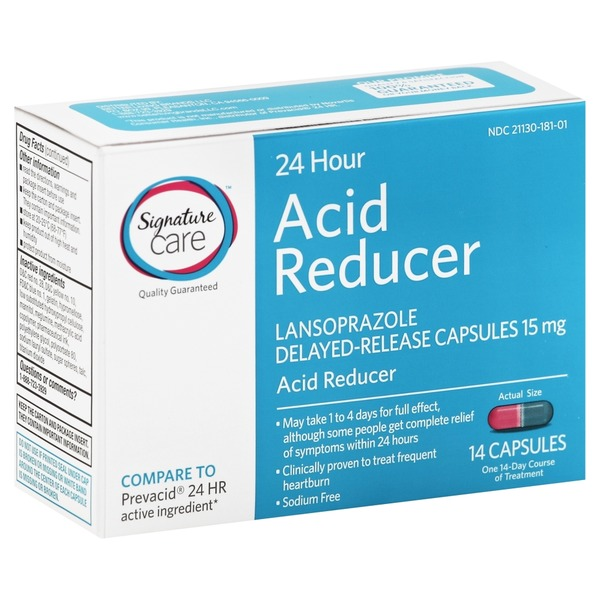 Signature Acid Reducer, 24 Hour, 15 mg, Delayed-Release Capsules