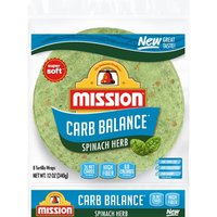Mission Spinach Herb Tortilla Wraps