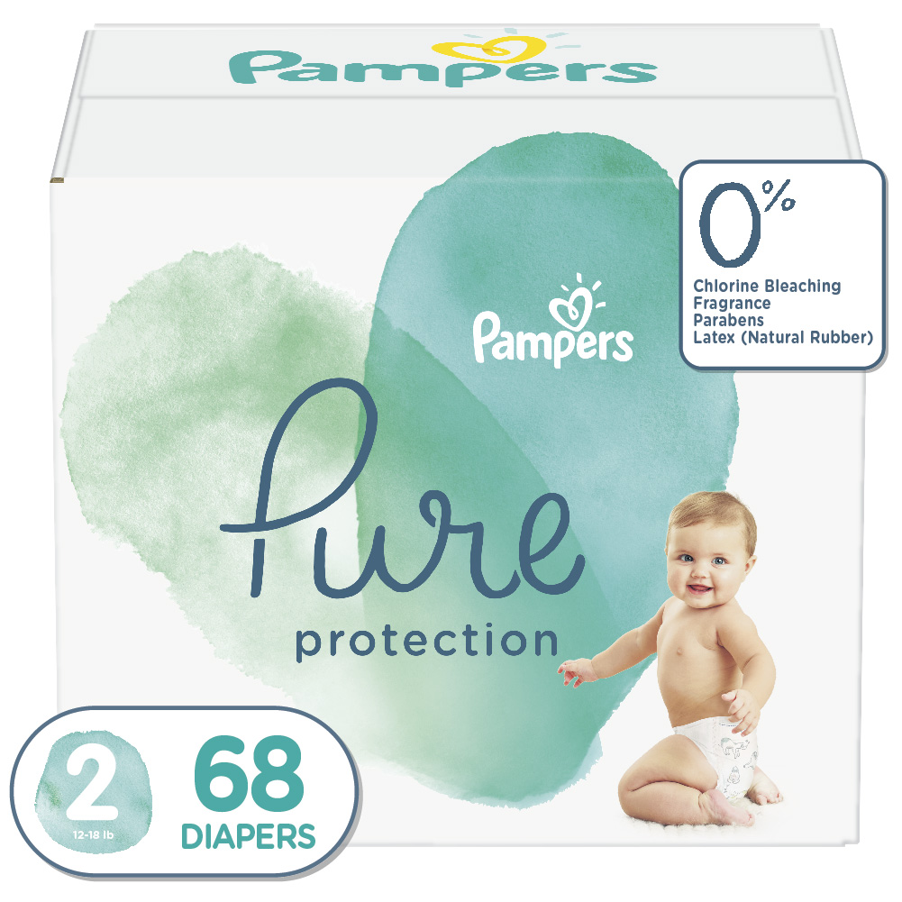 Pampers Pure Protection Diapers Size 2 68 Count