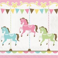 48ct Carousel Disposable Napkins