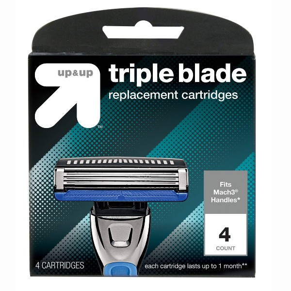 Triple Blade Replacement Cartridges - 4ct - Up&Up™
