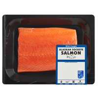 Wild Caught Alaska Sockeye Salmon Portions, 0.5 - 1.6 lb