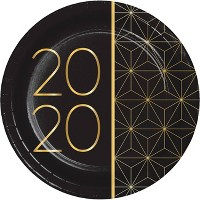 24ct 2020 New Year Dessert Plates