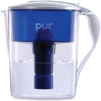 PUR Classic 11 Cup Water Filter Pitcher with LED, CR1100C, Blue/White