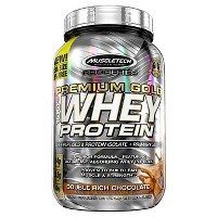 Muscle Tech Premium Gold Whey Protein Powder - Double Rich Chocolate - 2.5lbs