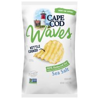 Cape Cod Wavy Cut Reduced Fat Sea Salt Kettle Cooked Potato Chips, 7.5 Oz