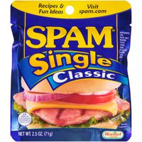 Spam Single Classic Sliced Meat