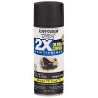 Canyon Black, Rust-Oleum American Accents 2X Ultra Cover, Satin Spray Paint, 12 oz