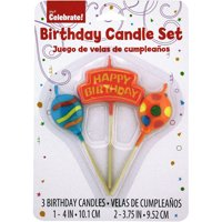 Happy Birthday Candles, 3ct