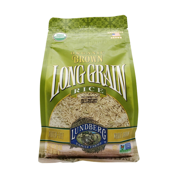Lundberg family farms Organic Brown Long Grain Rice, 32 oz
