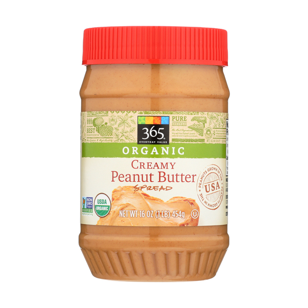365 everyday value® Organic Creamy Peanut Butter, 16 oz