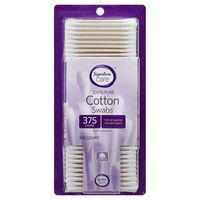Signature Care Cotton Swabs, 100% Pure