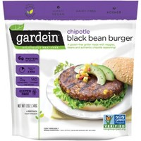 Gardein Gluten Free Chipotle Frozen Black Bean Burger - 12oz