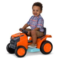 Mow & Go Lawn Mower Toy, 6-Volt Ride-On Toy by Kid Trax, ages 18 - 30 months, orange