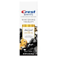 Crest Charcoal 3D White Toothpaste Whitening Therapy with Ginger Oil - Zesty Mint - 4.1oz