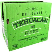 Tehuacan Lime Sparkling Mineral Water Glass Bottle