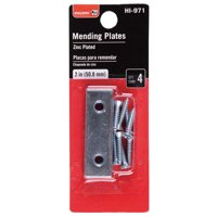 Bulldog Hardware 2-1/2 in. Mending Plate, Zinc Plated, 4 Pack
