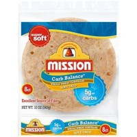 Mission Carb Balance Soft Taco Whole Wheat Tortillas - 8ct