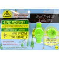 Not in My Backyard Wearable Silicone Mosquito Repellant Clip & Band