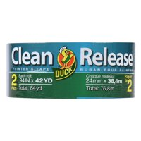 Duck Clean Release 0.94 in. x 42 yd. Blue Painter's Tape, 2 Count