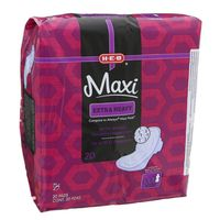 H-E-B Sure Comfort Maxi Overnight Pads With Wings for Extra Heavy Flow