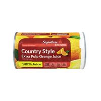 Signature Kitchens Country Style Extra Pulp 100% Orange Juice Frozen Concentrate