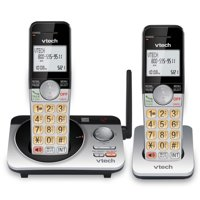 VTech 2 Handset Extended Range DECT 6.0 Expandable Cordless Phone with Answering System, CS5229-2 (Silver/Black)