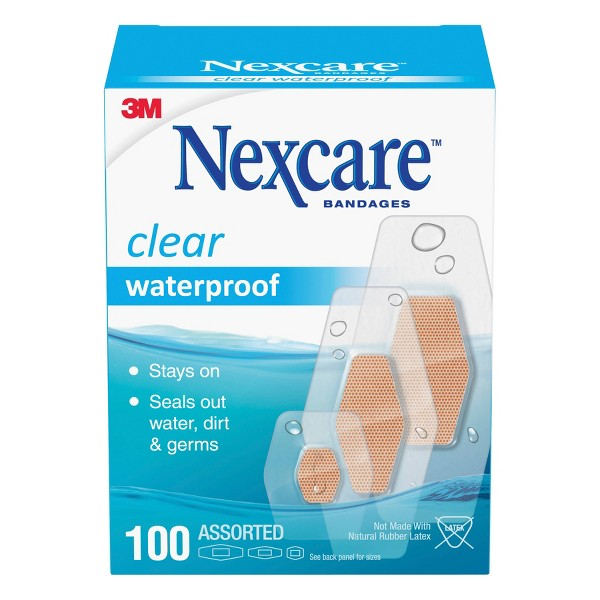 Nexcare Waterproof Assorted Bandages - 100ct