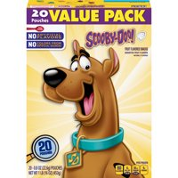 Fruit Snacks Scooby Doo Snacks, Value Pack, 20 ct, 16 oz