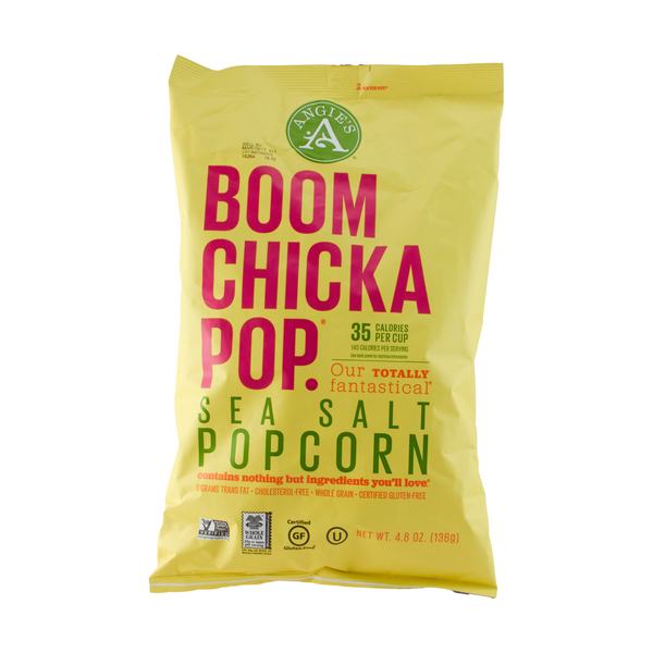Boom chicka pop Sea Salt Pop Corn, 4.8 oz
