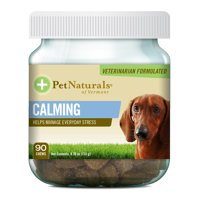 Pet Naturals of Vermont Calming Behavioral Support Supplement for Dogs, 90 Bite-Sized Chews