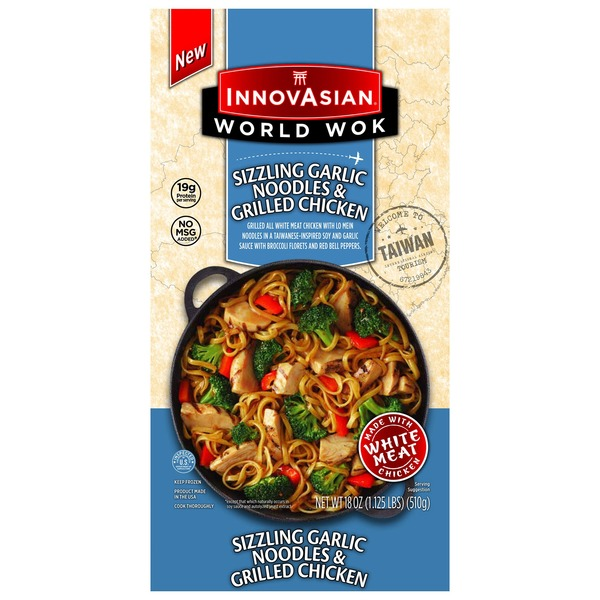 InnovAsian Cuisine World Wok Sizzling Garlic Noodles & Grilled Chicken