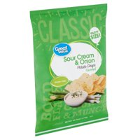 Great Value Sour Cream & Onion Flavored Potato Chips, 14.75 oz