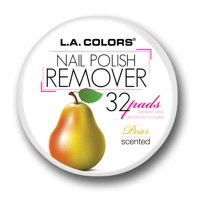 LA Colors Scented Nail Polish Remover Pads, Pear, 32 Ct
