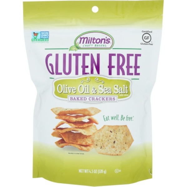 Milton's Craft Bakers Olive Oil & Sea Salt With Olives Baked Crackers