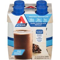 Atkins Protein-Rich Shake, Dark Chocolate Royale