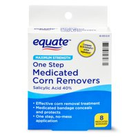 Equate Maximum Strength One Step Medicated Corn Removers, 8 Count