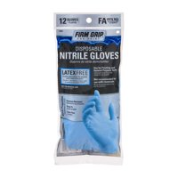 Firm Grip Nitrile Gloves, 12ct