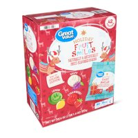 Great Value Holiday Fruit Smiles, 33.6 oz, 42 Count