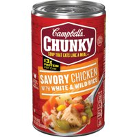 Campbell's Chunky Soup, Savory Chicken with White & Wild Rice Soup, 18.8 Ounce Can
