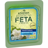 Athenos Reduced Fat Feta Cheese Chunks, 6 oz Blister Pack