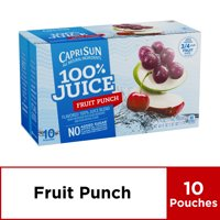 Capri Sun 100% Fruit Punch Juice, 10 ct - Pouches, 60.0 fl oz Box