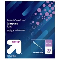 Tampons - Light Absorbency - Plastic - 36ct - Up&Up™