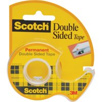 Scotch 0.5' x 400' Double Sided Tape Dispenser, 1 Each