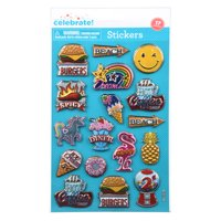 Way To Celebrate Diner 3D Stickers, 17 Count