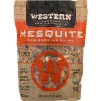 (2 pack) Western Premium BBQ Products Mesquite BBQ Smoking Wood Chips